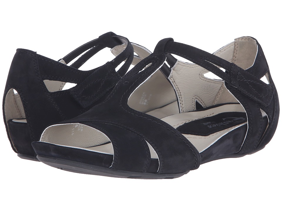 Earth - Ponza Earthies (Black Soft Buck) Women's Dress Sandals