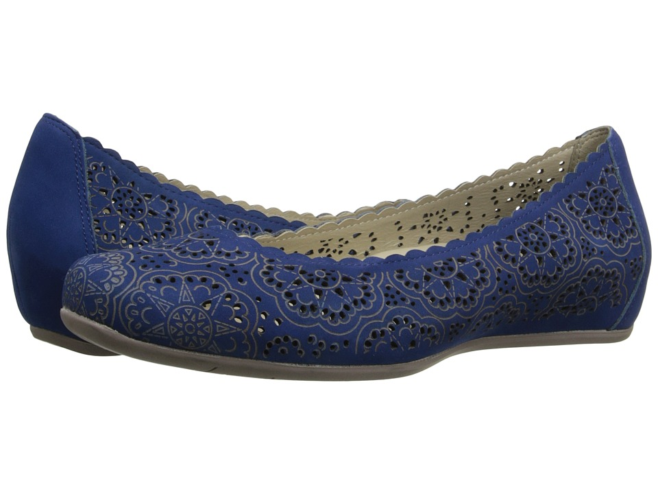 Earth - Bindi Earthies (Royal Blue Soft Buck) Women's Flat Shoes