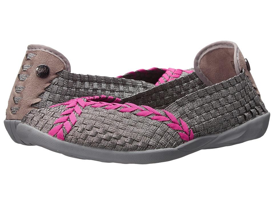 bernie mev. - Braided Catwalk (Pewter/Hot Pink) Women's Slip on Shoes