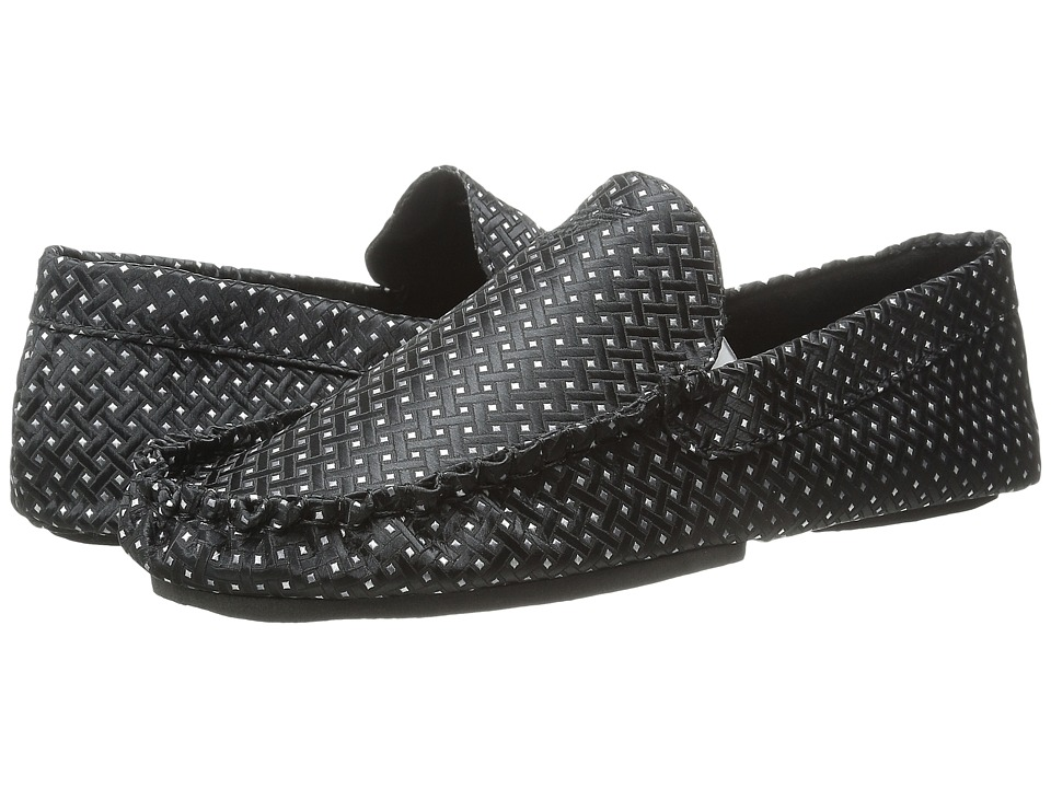 Emporio Armani - Satin Slippers (Black Fantasy/White) Men's Slippers