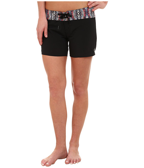 Volcom - Wild Yonder 5 Boardshorts (Black) Women's Swimwear
