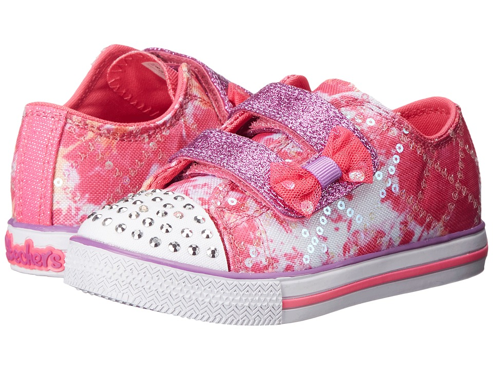 SKECHERS KIDS - Twinkle Toes - Chit Chat (Toddler/Little Kid) (Pink/Multi) Girl's Shoes