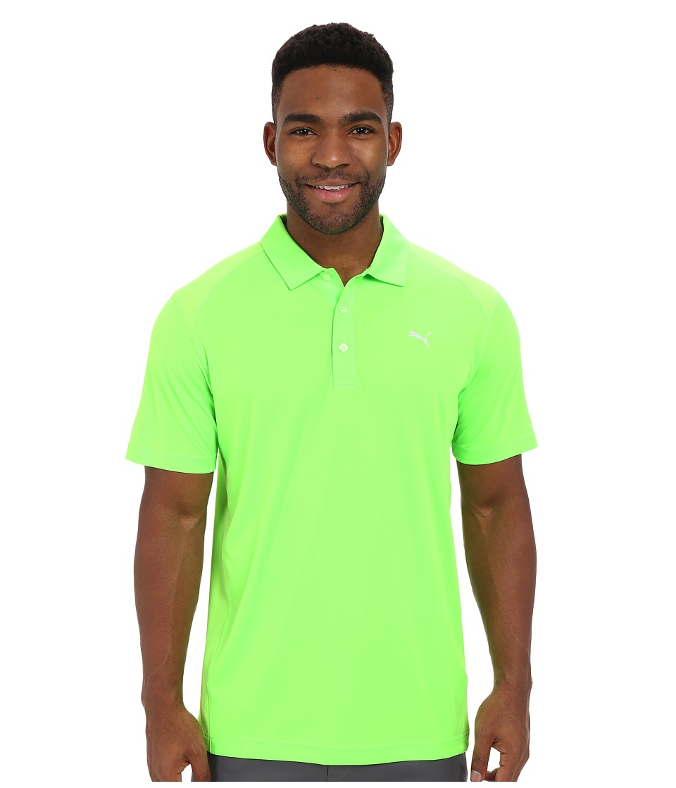 PUMA Golf - ESS Pounce Polo (Green Gecko) Men's Clothing