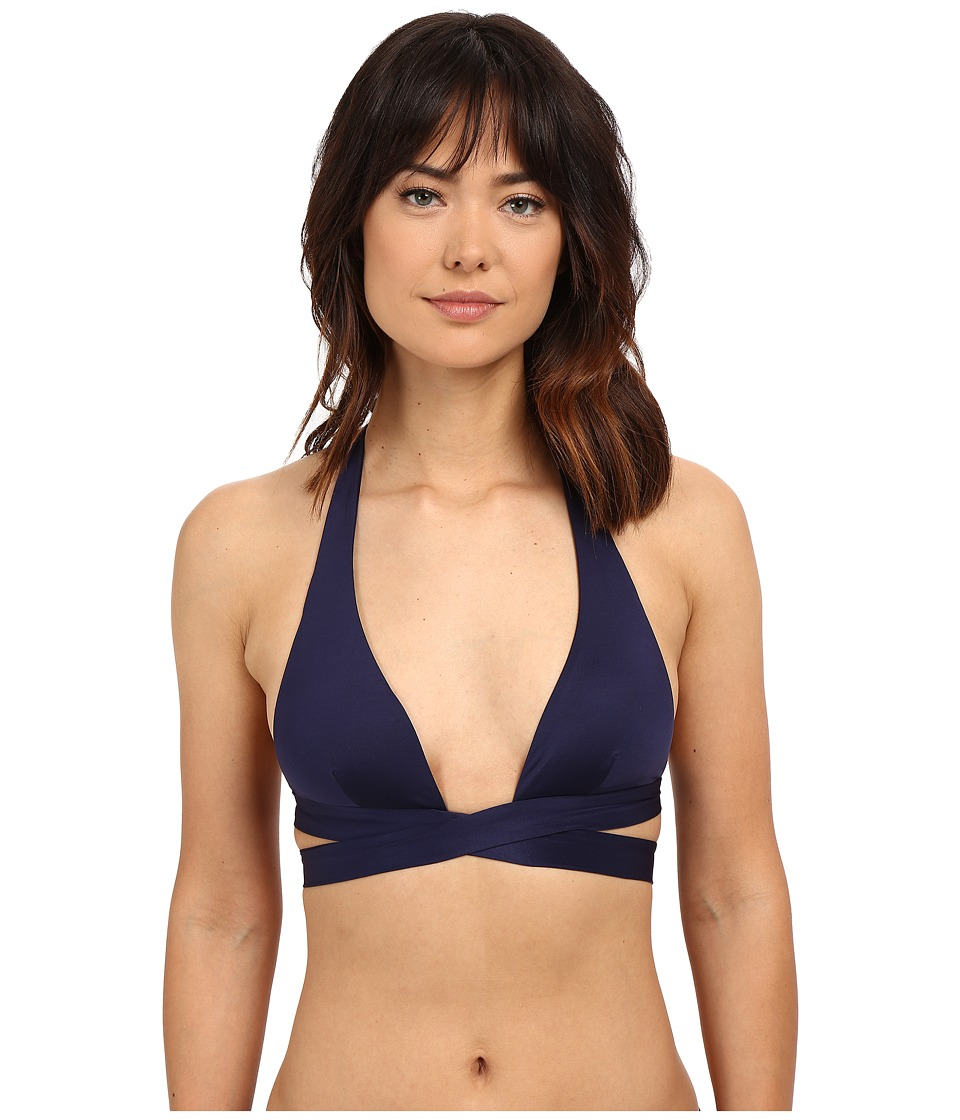 Vitamin A Swimwear - Sirena Wrap Top (Navy Eco Lux) Women's Swimwear