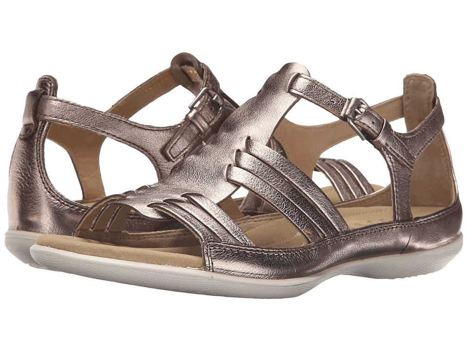 ECCO - Flash Huarache Sandal II (Warm Grey Metallic) Women's Sandals
