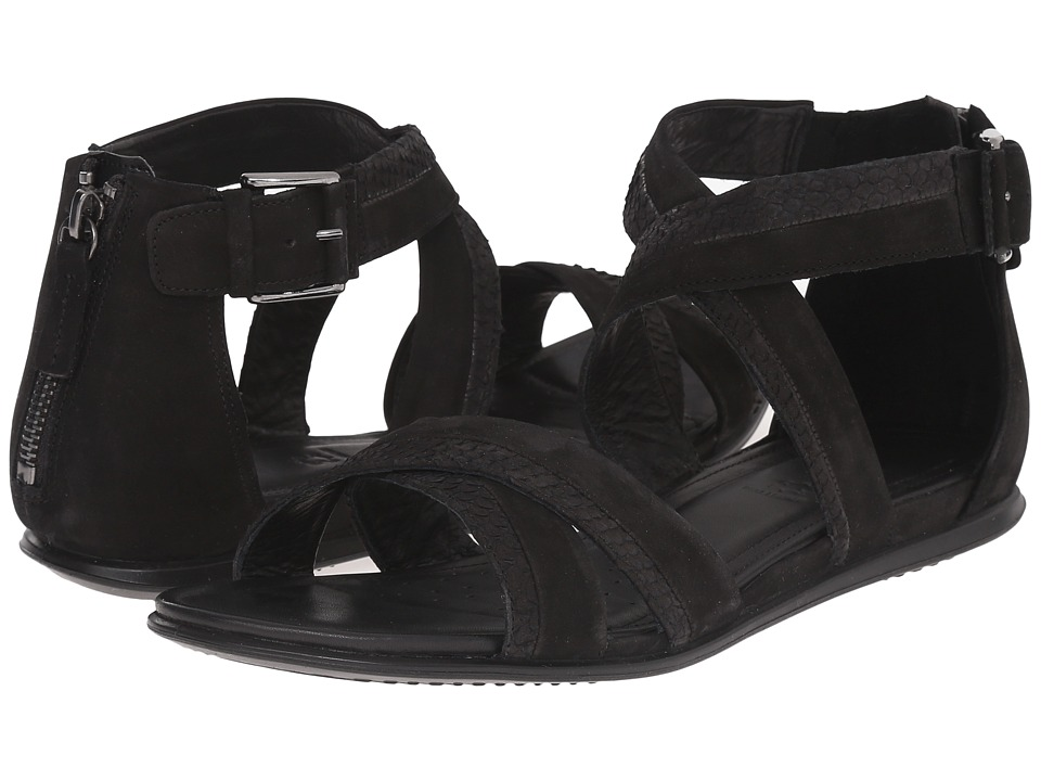 ECCO - Touch Ankle Strap Sandal (Black/Black) Women's Sandals