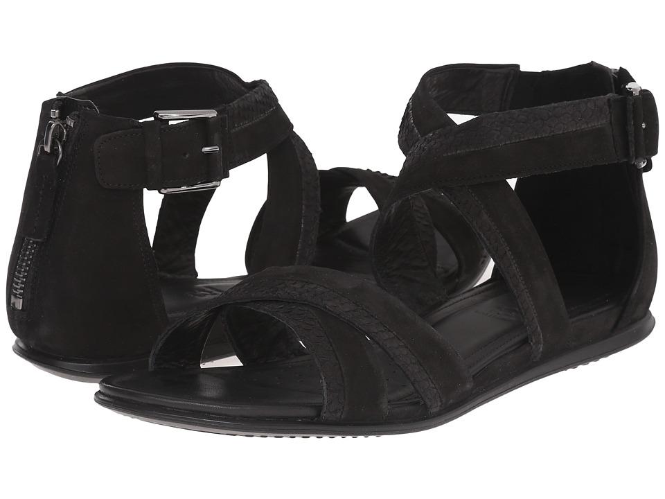 ECCO - Touch Ankle Strap Sandal (Black/Black) Women's Sandals