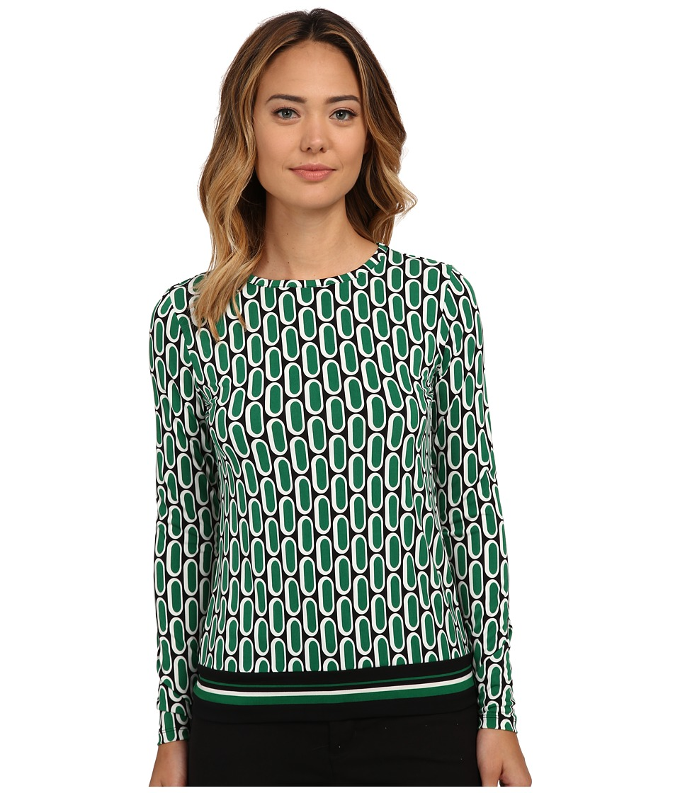 MICHAEL Michael Kors - Reyes Capsule Border Blouse (Palmetto) Women's Blouse