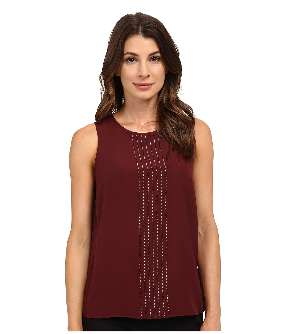 MICHAEL Michael Kors - Sleeveless Top (Merlot) Women's Sleeveless