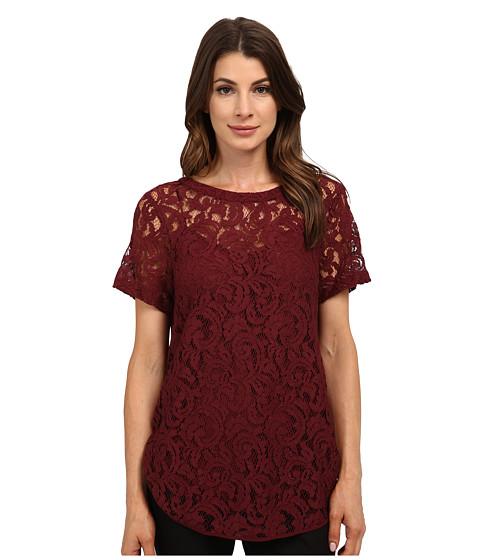 MICHAEL Michael Kors - Paisley Lace T-Shirt (Merlot) Women