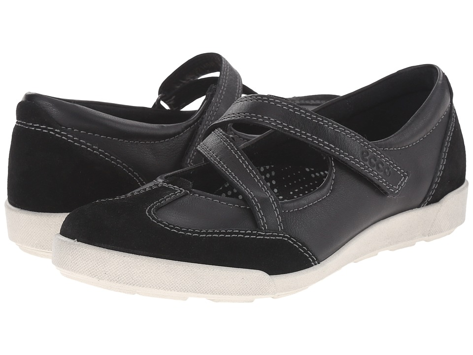 ECCO - Crisp II MJ (Black/Black) Women's Maryjane Shoes