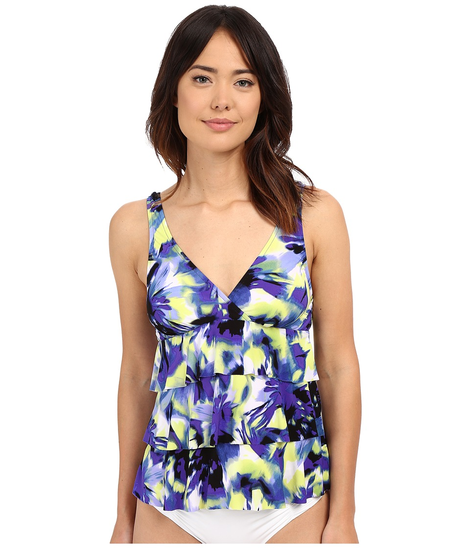 Magicsuit - Starry Night Corynne Soft Cup Tankini Top (Blue) Women's Swimwear