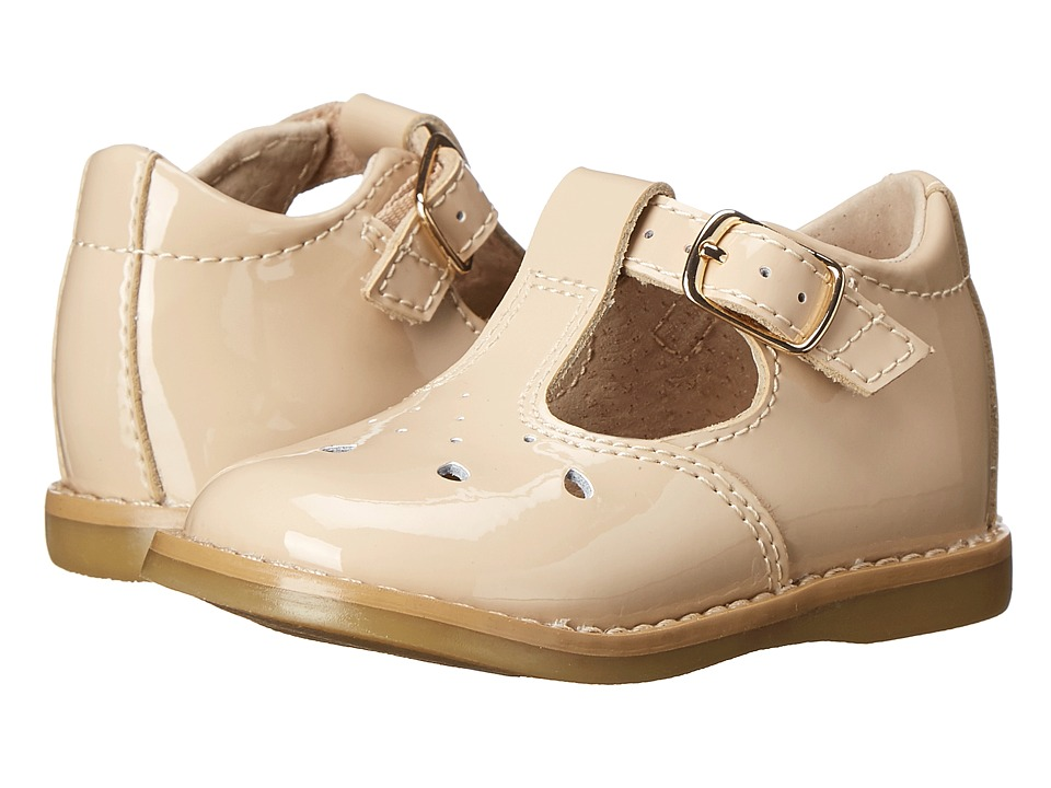 FootMates - Harper (Infant/Toddler) (Taupe Patent) Girls Shoes