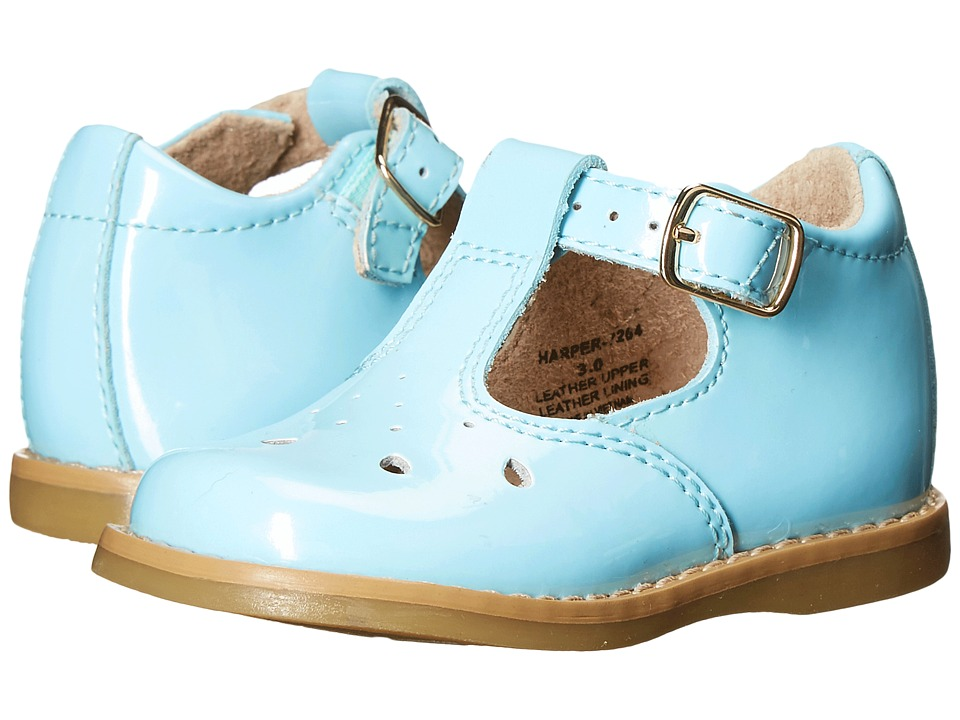 FootMates - Harper (Infant/Toddler) (Powder Blue Patent) Girls Shoes