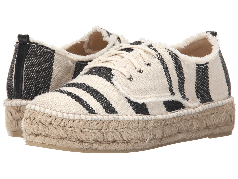 Loeffler Randall Alfie (Black/Natural Woven Canvas) Women