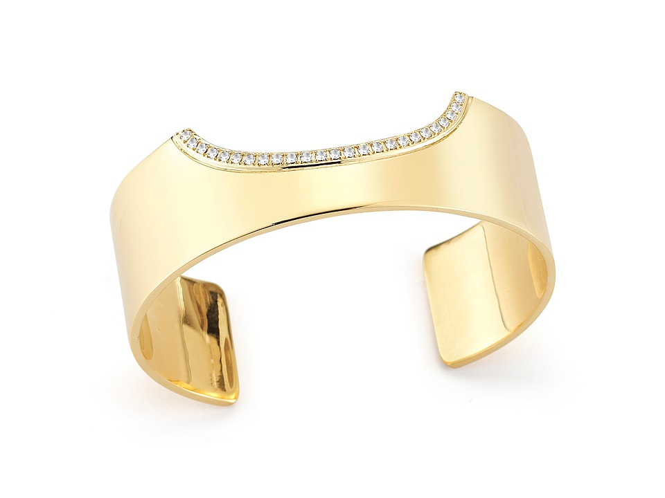 Elizabeth and James - Kahlo Cuff Bracelet (Yellow Gold) Bracelet