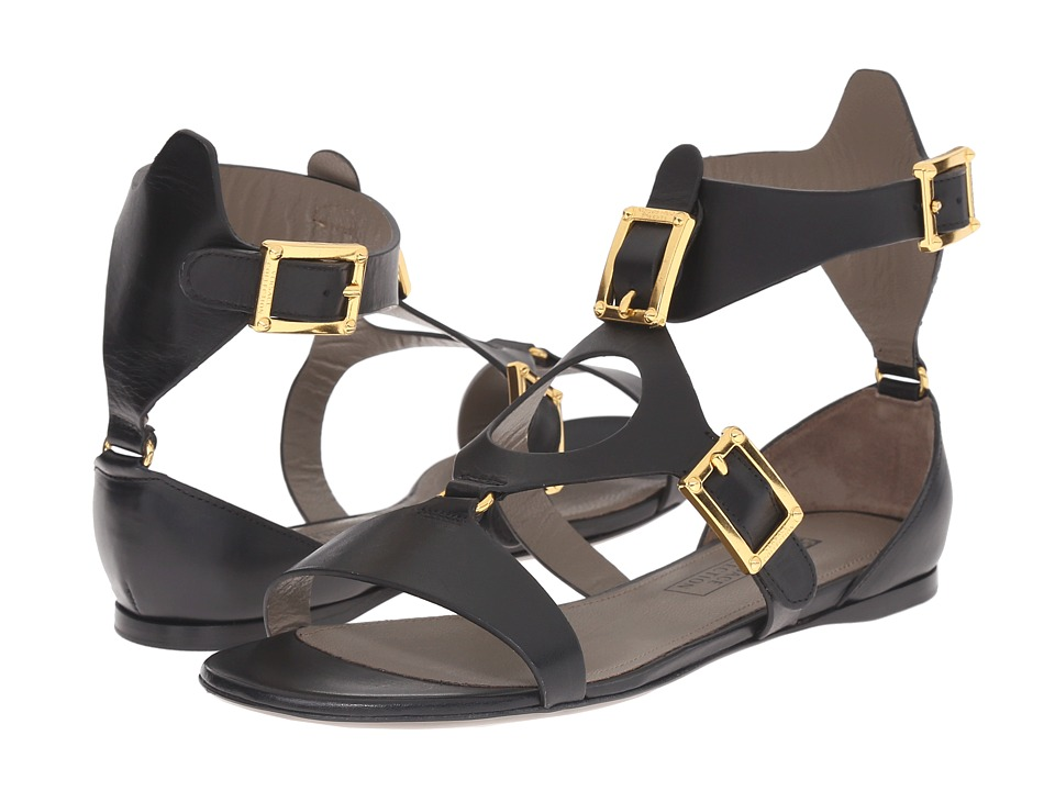 Versace Collection - Oro Bizantino Sandal (Nero) Women's Sandals