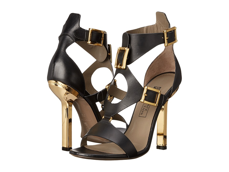 Versace Collection - Oro Bizantino Open Toe Heel (Nero) Women