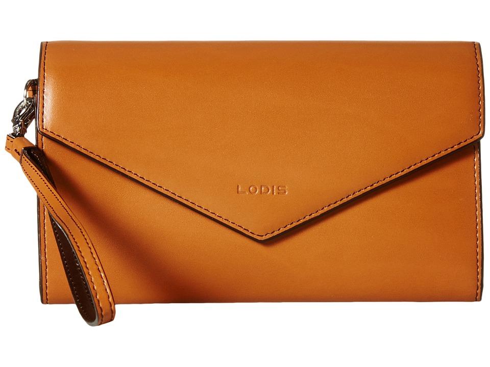 Lodis Accessories - Audrey Ellen Wristlet Wallet (Toffee/Chocolate) Wallet Handbags