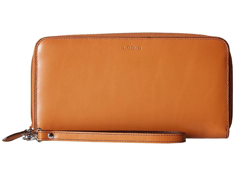 Lodis Accessories - Audrey Vera Wristlet Wallet (Toffee/Chocolate) Wallet Handbags