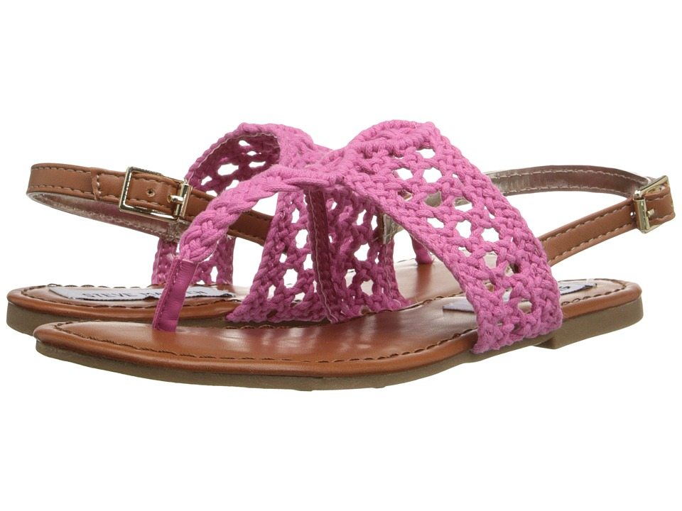 Steve Madden Kids - Jparadse (Little Kid/Big Kid) (Pink Crochet) Girls Shoes