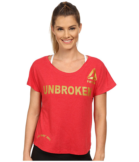 Reebok - Mixed Marcial Arts T-Shirt (Unbroken Red/Gold) Women
