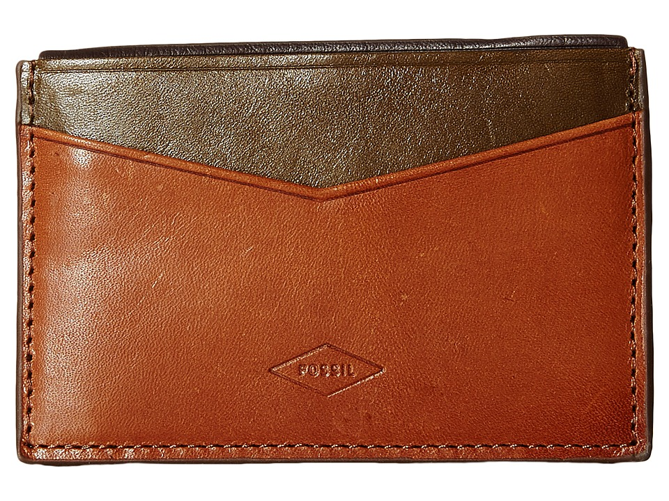 Fossil - Elliot Card Case (Saddle) Credit card Wallet
