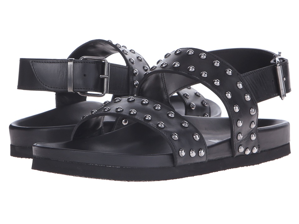 Just Cavalli - Studded Leather Sandal (Black) Men's Sandals