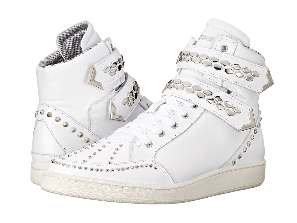 Just Cavalli - Hightop w/ Multishape Studs (White) Men's Shoes