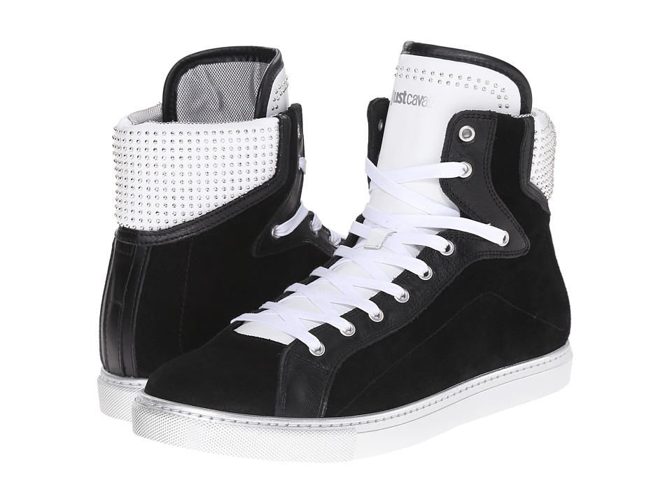 Just Cavalli - Hightop w/ Suede and Stud Details (Black) Men's Shoes