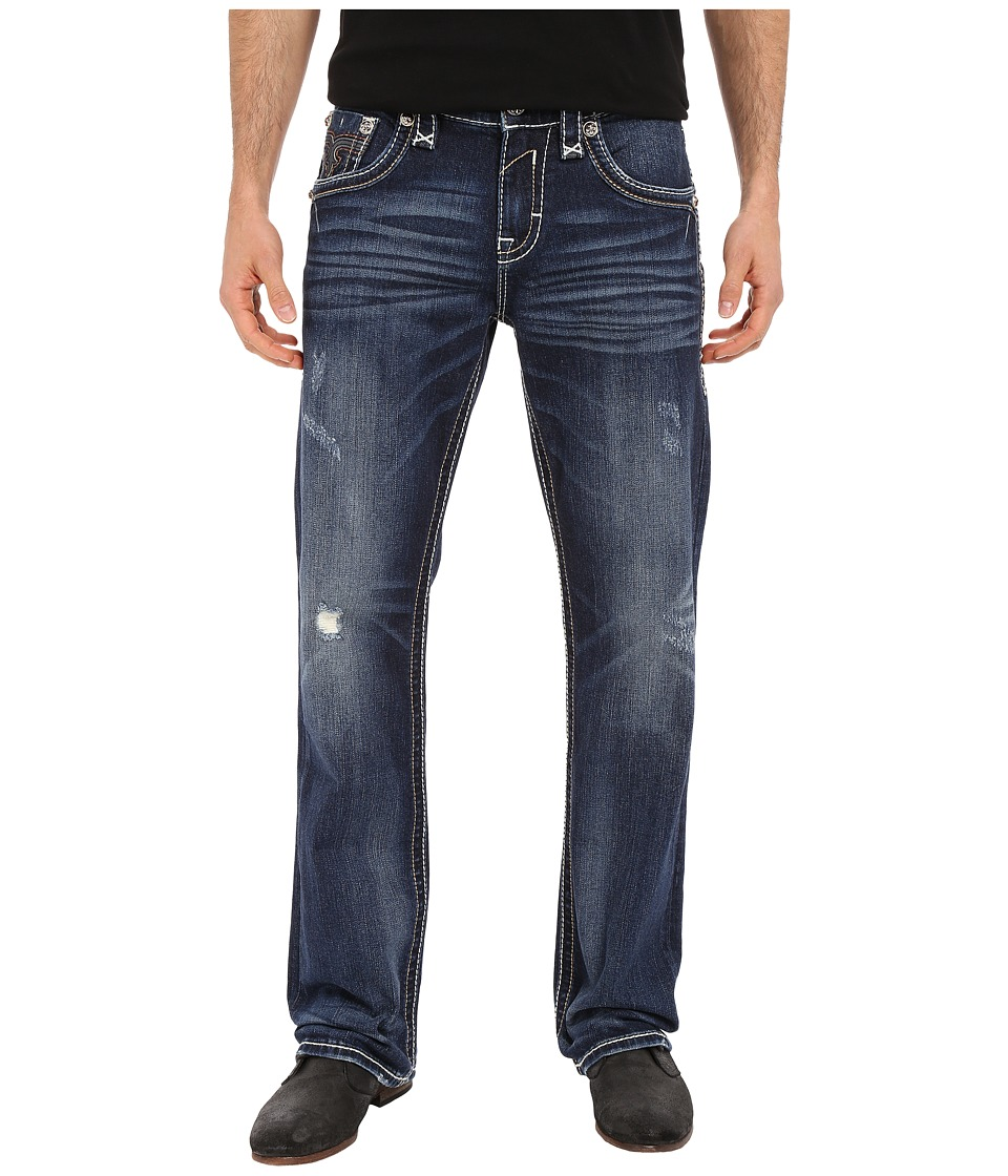 Rock Revival - Gordian B200 in Medium Blue (Medium Blue) Men's Jeans