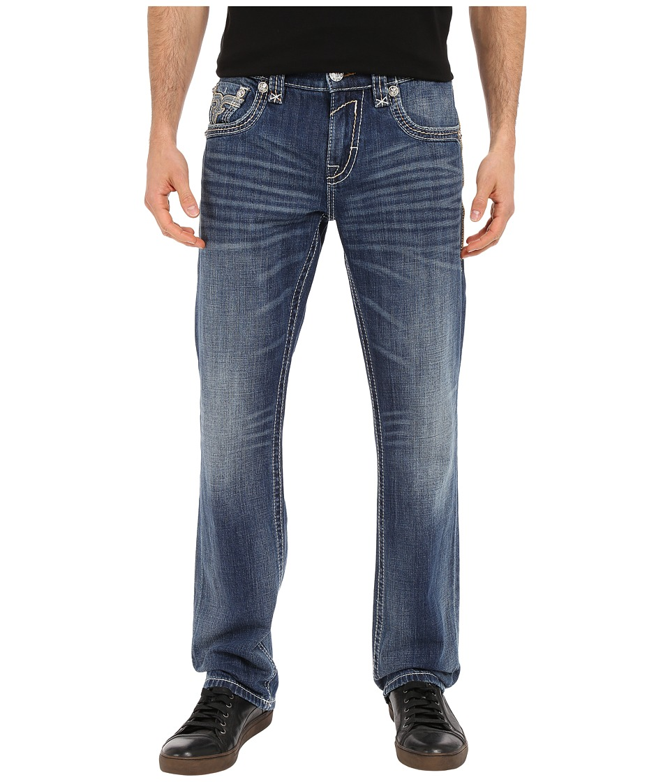 Rock Revival - Frankie J400 in Medium Blue (Medium Blue) Men's Jeans