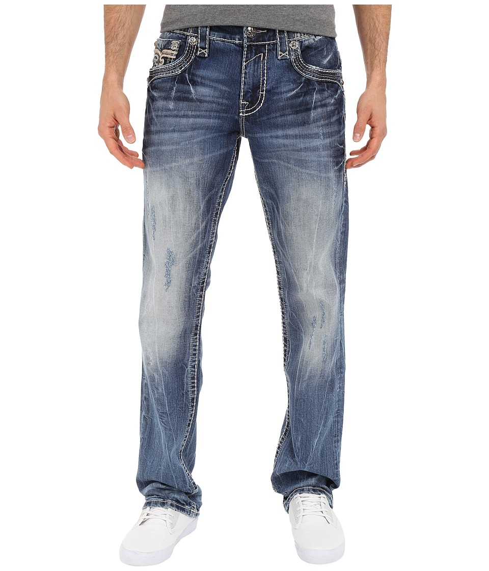 Rock Revival - Kash J2 in Medium Blue (Medium Blue) Men's Jeans