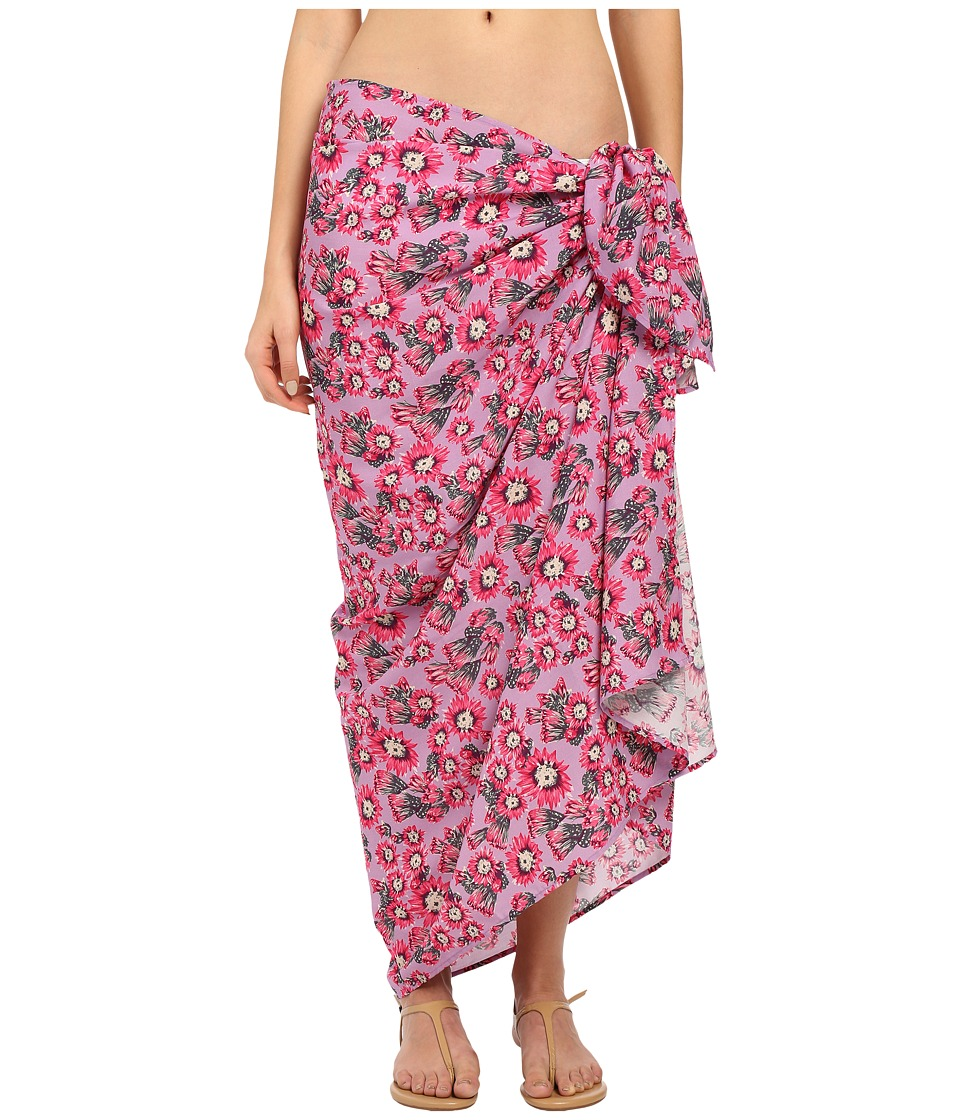 Tori Praver - Sarong Cover-Up (Cactus Flower Orchid) Women's Swimwear