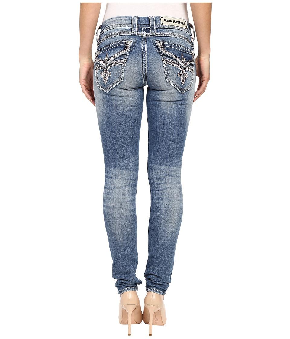 Rock Revival - Stephanie S52 in Light Blue (Light Blue) Women's Jeans