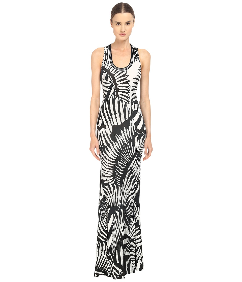 Just Cavalli - Kraken Print Sleeveless Maxi Jersey Dress (White) Women's Dress