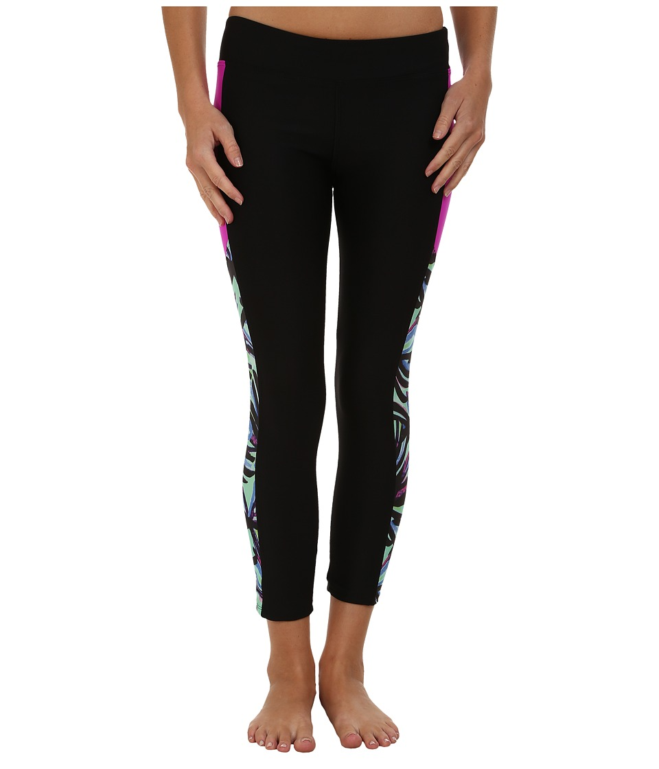 Next by Athena - Power Thru It Crop Pants (Black) Women's Swimwear