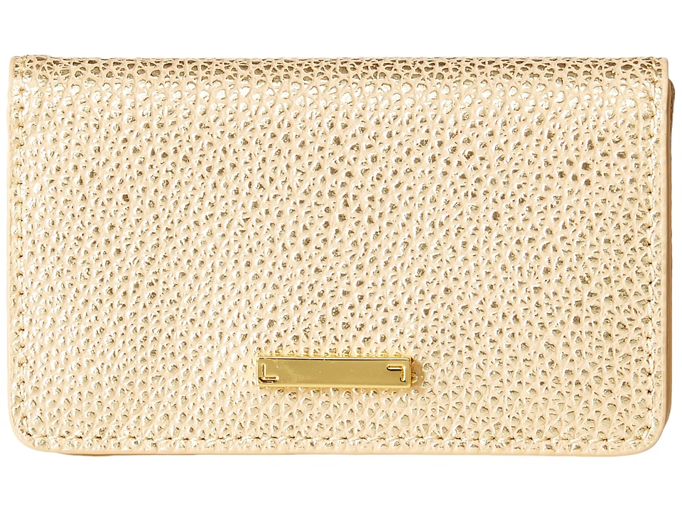 Lodis Accessories - Sophia Metallic Mini Card Case (Beige/Gold) Wallet