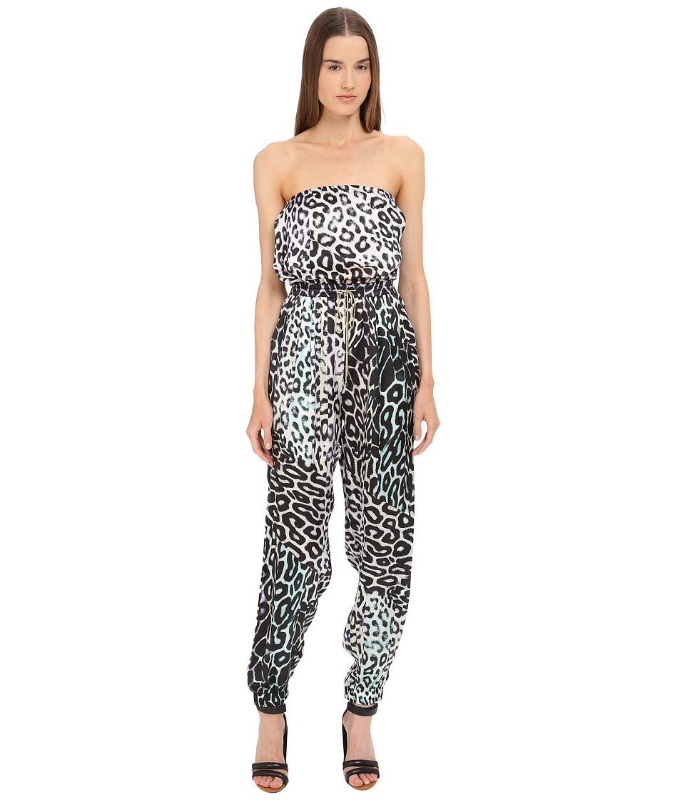 Just Cavalli - Leo Print Silk Jumpsuit (Multicolor) Women's Jumpsuit & Rompers One Piece