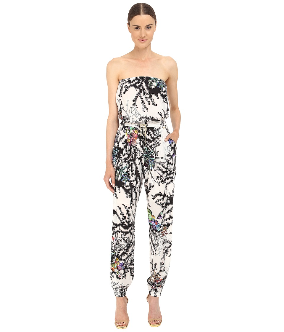 Just Cavalli - Coral Fish Print Jumpsuit (Off-White) Women's Jumpsuit & Rompers One Piece