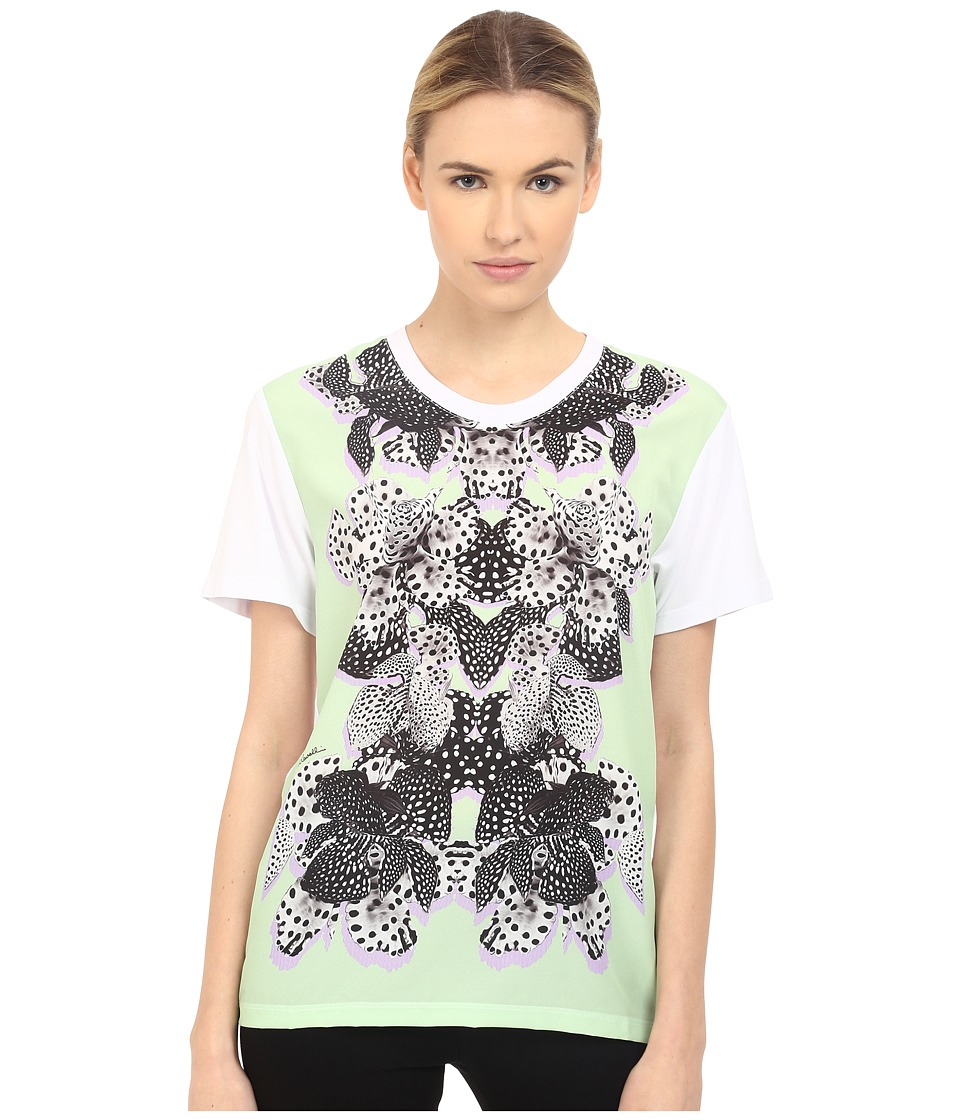 Just Cavalli - Printed Panel T-Shirt Chimera Print (Lux Green) Women's T Shirt