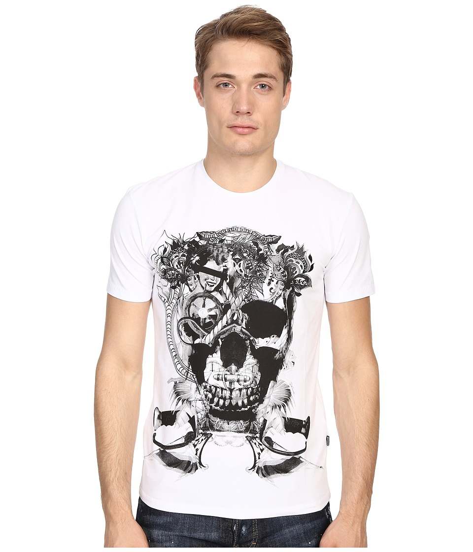 Just Cavalli - Skull Jersey Tee Shirt (White) Men's T Shirt