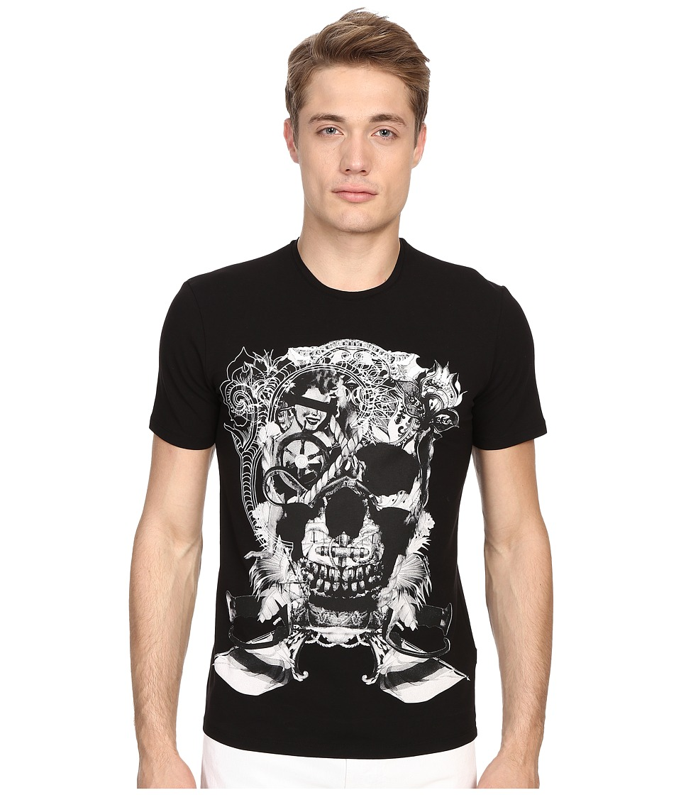 Just Cavalli - Skull Jersey Tee Shirt (Black) Men's T Shirt