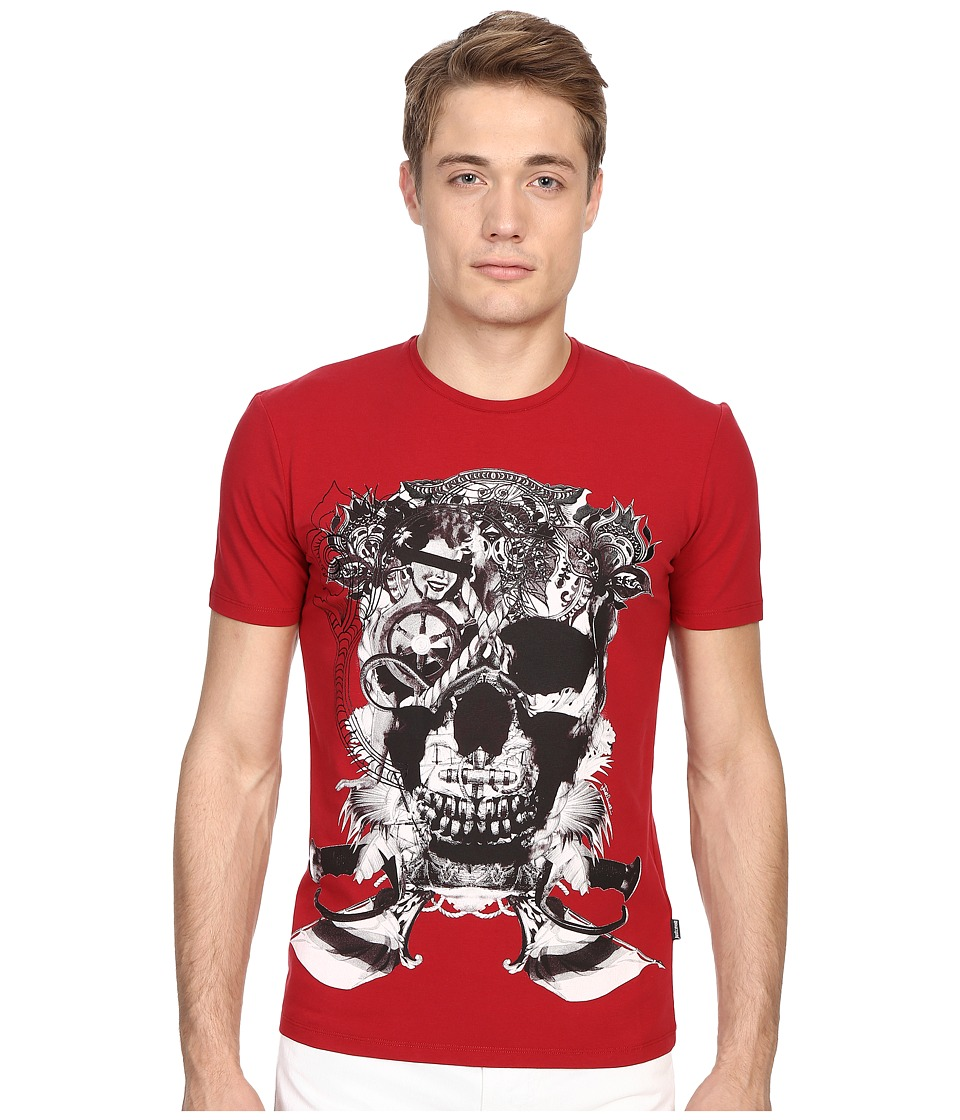 Just Cavalli - Skull Jersey Tee Shirt (True Red) Men's T Shirt