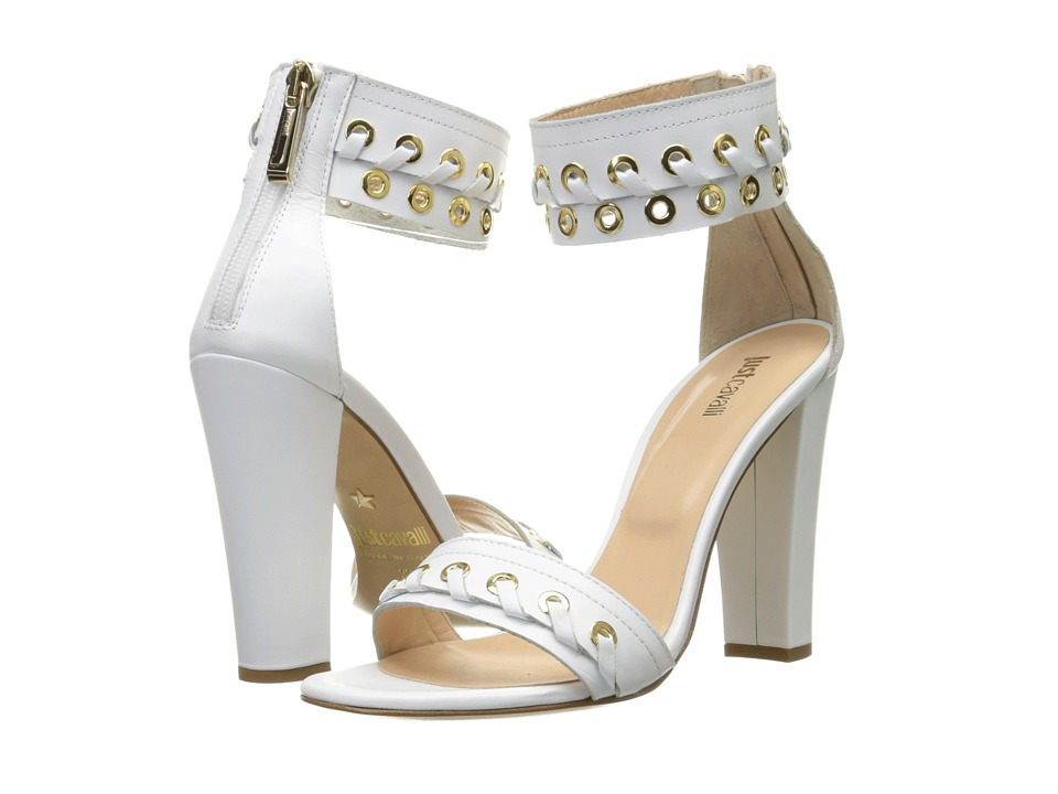 Just Cavalli - Calf Leather with Eyelets (Off-White) High Heels