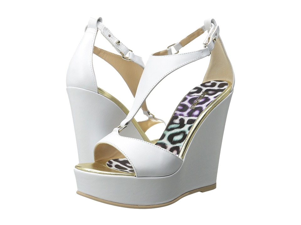 Just Cavalli - Calf Leather (Off-White) Women's Wedge Shoes