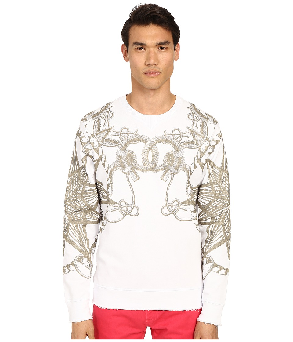 Just Cavalli - Snake Rope Sweater (White) Men's Sweater