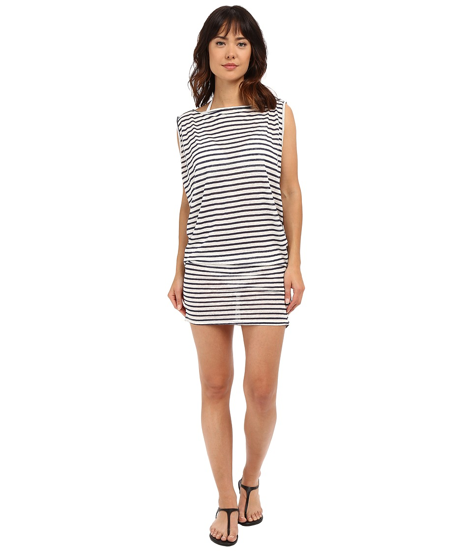 Vitamin A Swimwear - London Tee Cover-Up (Bateau Stripe) Women's Swimwear