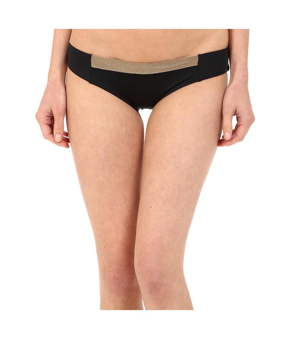 Vitamin A Swimwear - Adriana Hipster (Black/Bronze Color Block) Women's Swimwear