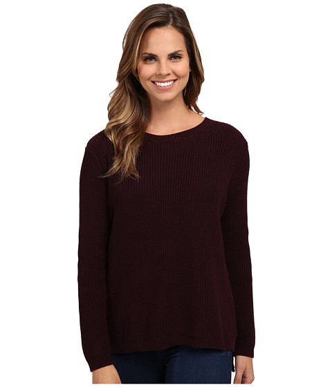 525 america - Shaker Crew Neck (Mulberry) Women's Clothing